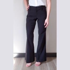 Suzy Shier Black Bootcut Flared Dress Pants